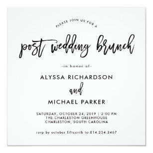 after brunch 5x5 wedding invitations zazzle