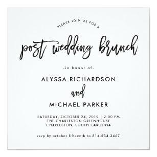 post wedding ceremony invitations announcements zazzle