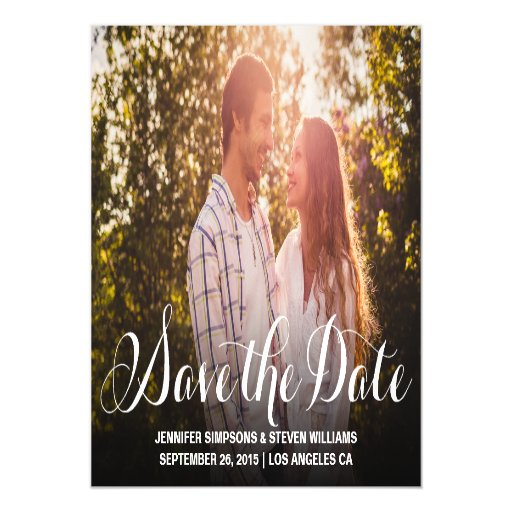 Modern Script Save the Date Magnet Invitations Magnetic Invitations