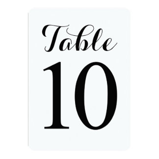 Modern Script Table 10 | Table Numbers Card