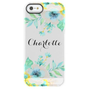 Christmas Themed Modern Script Vintage Floral Frost® iPhone SE Case