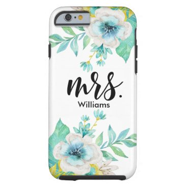 Modern Script Vintage Floral Tough iPhone 6 Case