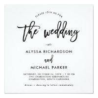 Modern Script | Wedding Invitation
