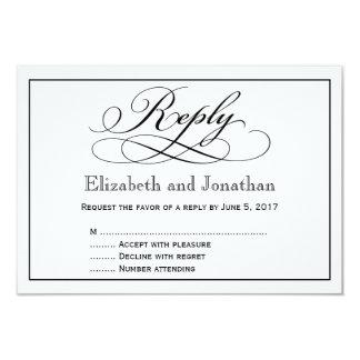 Modern Script Wedding Reply Card