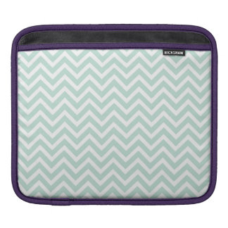 modern seafoan and white chevron sleeves for iPads