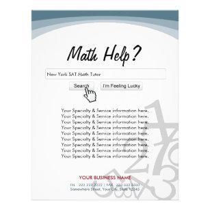 modern search bar math tutor flyers