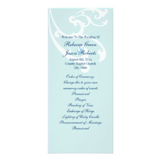 modern SeaShells Beach Wedding programs