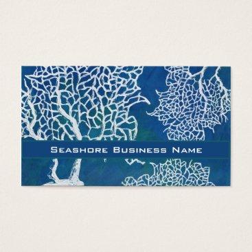 Professional Business Modern Seashore Beach Ocean Coral Water Business Business Card