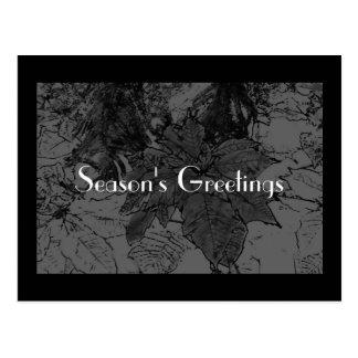 Modern Season's Greeting - Pocket Calendar Post Cards