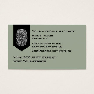 Modern Security Services Business Card