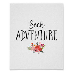 Modern Seek Adventure Nursery Art Poster