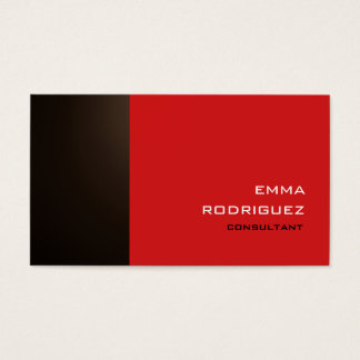 Modern Sepia Brown Red Sophisticated Trendy Style Business Card