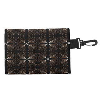 Modern Sepia Pattern Accessory Bags