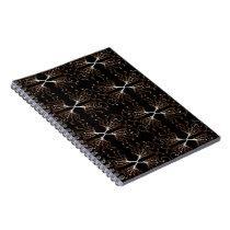 Modern Sepia Pattern Notebook