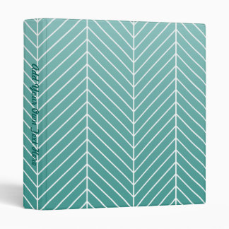Modern Shaded Green Herringbone Chevron Zig Zags Binder