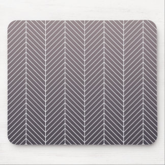 Modern Shaded Purple Herringbone Chevron Zig Zags Mouse Pad