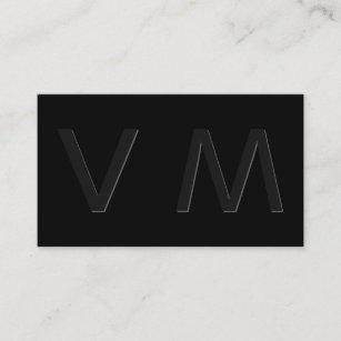 Raised letter business cards zazzle modern shadow monogram 2 business card colourmoves