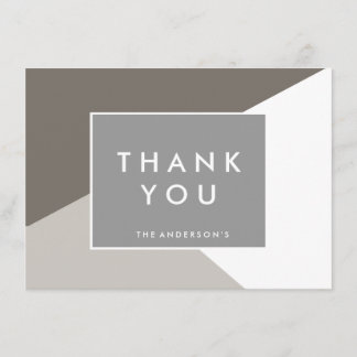 Modern Shape Thank You Notes | THANK YOU CARDS