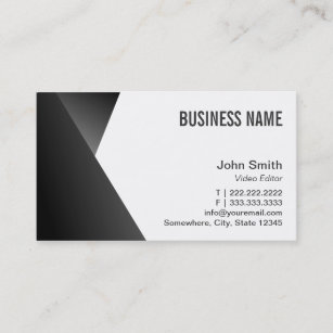 Video editor business cards templates zazzle modern sharp video editor business card colourmoves
