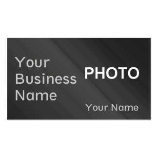 Modern Sheer Effect Photo Business Card