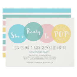 Ready to pop invitations announcements zazzle modern shes ready to pop baby shower invitation filmwisefo Images