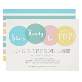 Ready To Pop Invitations Announcements Zazzle