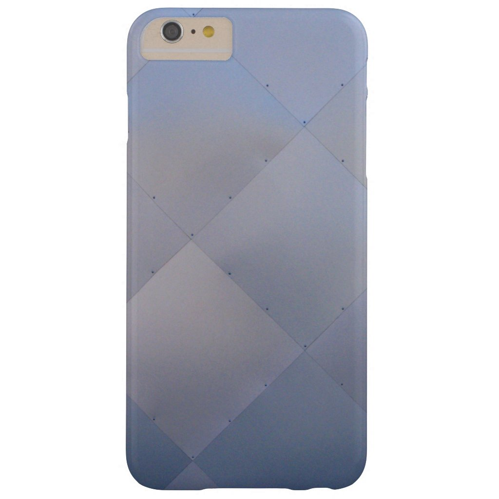 Modern Shiny Checkered Metal Blue