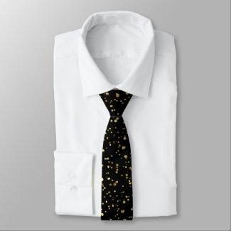Modern Shiny Gold Fine Splatter pattern Tie