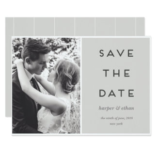 MODERN SIDE BY SIDE SAVE THE DATE CARD
