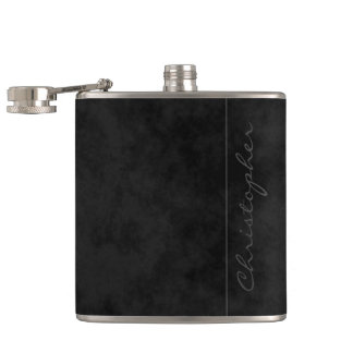 * Modern Signature Mottled Black Flask