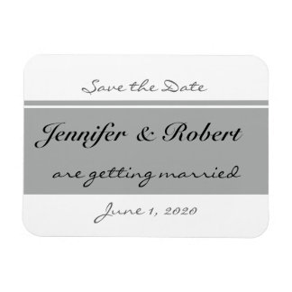 Modern Silver and Buttercup Flower Save the Date Rectangular Photo Magnet