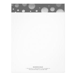 Modern Silver Confetti Dots Letterhead