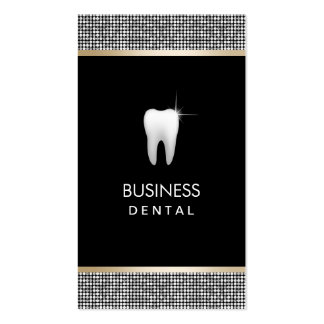 Modern Silver Glitter Border Dental Appointment Business Card