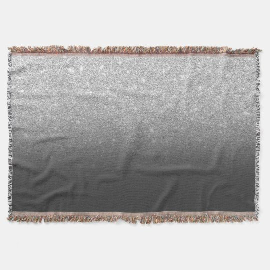 Modern silver glitter ombre grey black throw blanket Zazzle Enchanting Silver Sequin Throw Blanket