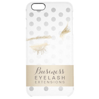 Modern Silver & Gold Eyelash Extensions Clear iPhone 6 Plus Case