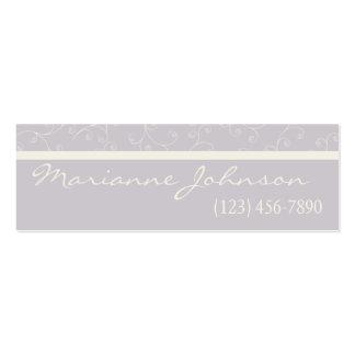 Modern Silver Graphite Swirl Profile Card Business Card Templates