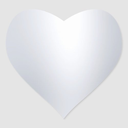 Modern Silver Look Blank Template Glamorous Chic Heart Sticker