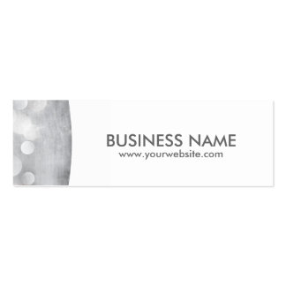 Modern Silver mini Appointment Business Card
