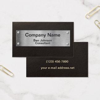Modern Silver Plate Business Card