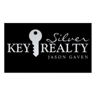 Modern Silver Realty Real Estate Realtor Business Double-Sided Standard Business Cards (Pack Of 100)