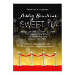 Modern Silver Red Carpet Hollywood Sweet 16 Invites