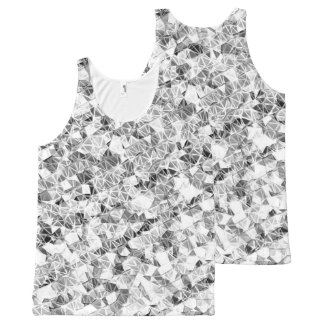 Modern Silver Sparkle All-Over Print Tank Top