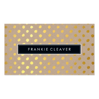 MODERN SIMPLE BADGE bold trendy gold foil spot Double-Sided Standard Business Cards (Pack Of 100)