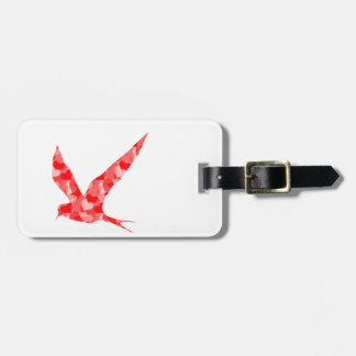 Modern, Simple & Beautiful Hand Drawn Bird Hearts Luggage Tag
