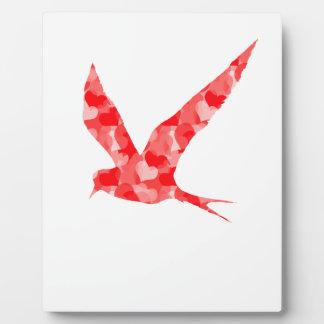 Modern, Simple & Beautiful Hand Drawn Bird Hearts Plaque