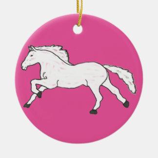 Modern, Simple & Beautiful Hand Drawn Horse Ceramic Ornament