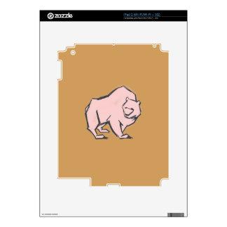 Modern, Simple & Beautiful Hand Drawn Pink Bear Skin For iPad 2