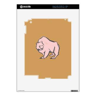 Modern, Simple & Beautiful Hand Drawn Pink Bear Skins For iPad 2
