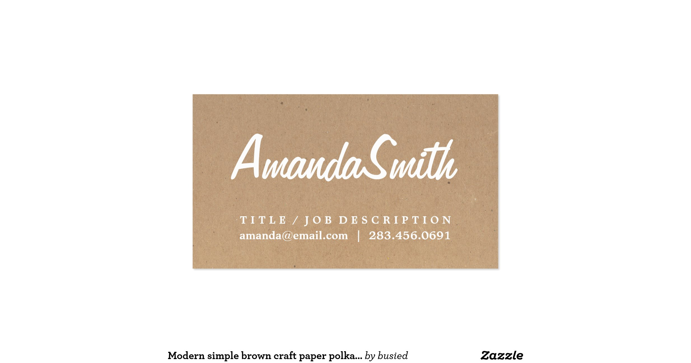 craft paper business cards vavtofo