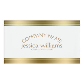 Modern Simple Decorative Gold Stripes Name Tag